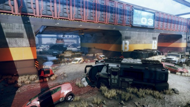 Titanfall 2 screenshot of the Traffic map