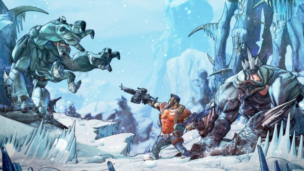 Borderlands 2 screenshot of a snowy area