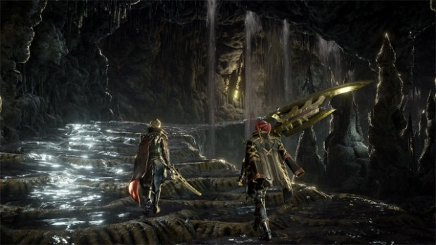 Code Vein screenshot of a dark cave