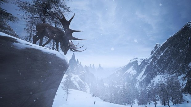 Conan Exiles giant moose on a hill