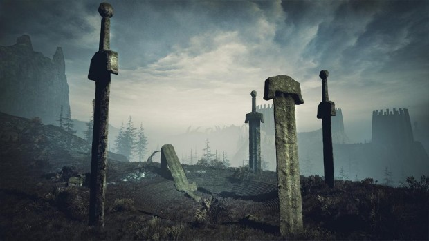 Conan Exiles screenshot of giant swords