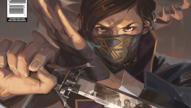 The official comic book cover for Dishonored 2
