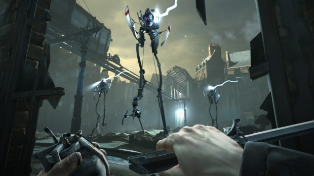 Dishonored screenshot of metal walkers