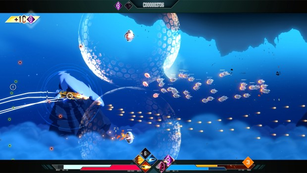 Drifting Lands screenshot of protective bubbles