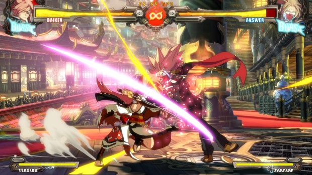 A duel in Guilty Gear Xrd Rev 2