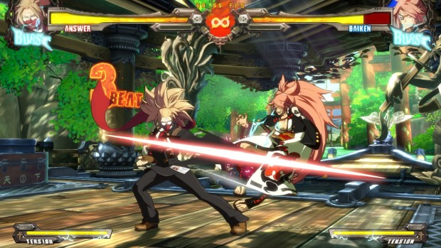 Guilty Gear Xrd Rev 2 screenshot of a slicing attack