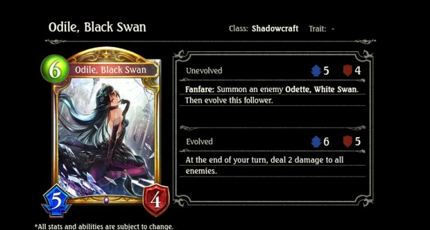 Odile Black Swan Shadowverse card from Wonderland Dreams