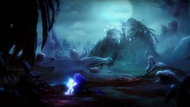 Screenshot of the Owl Graveyard from Ori and the Will of the Wisps