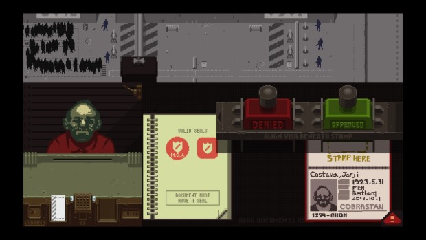 Papers, Please screenshot from Steam