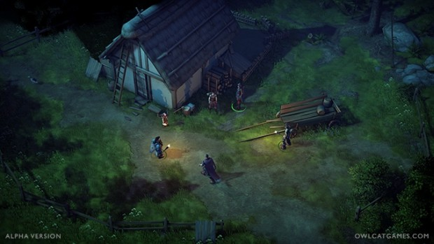 Pathfinder: Kingmaker screenshot from the early alpha