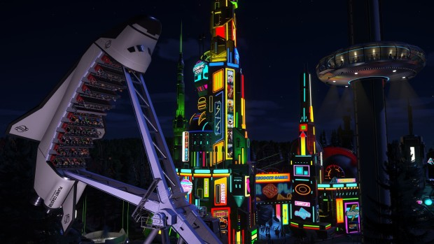 Planet Coaster screenshot of the new rides from the Summer Update