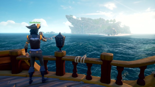 Sea of Thieves screenshot of an uncharted island