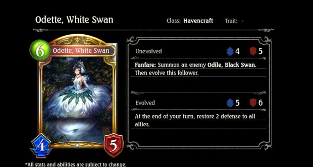Odette White Swan Wonderland Dreams Shadowverse card