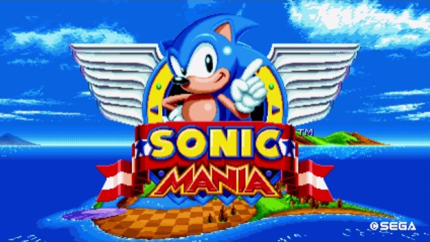 Sonic Mania artwork and logo
