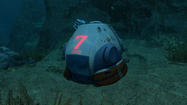 Subnautica's lifepod 7 screenshot