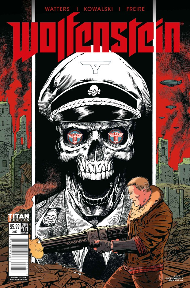 Wolfenstein 2: The New Colossus official comic book cover