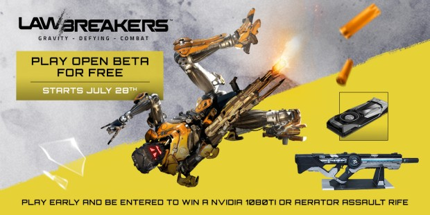 LawBreakers artwork for the replica cosplay Aerator Rifle