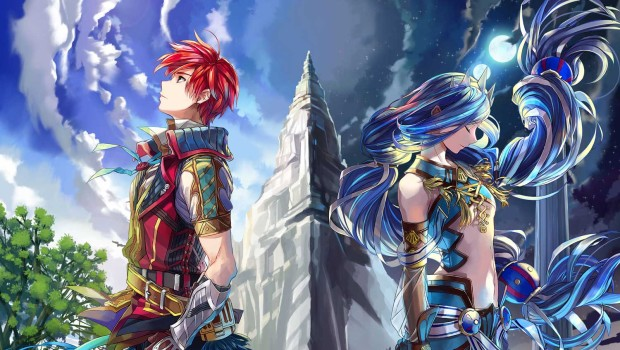 Ys VIII: Lacrimosa of Dana official artwork of the two main characters