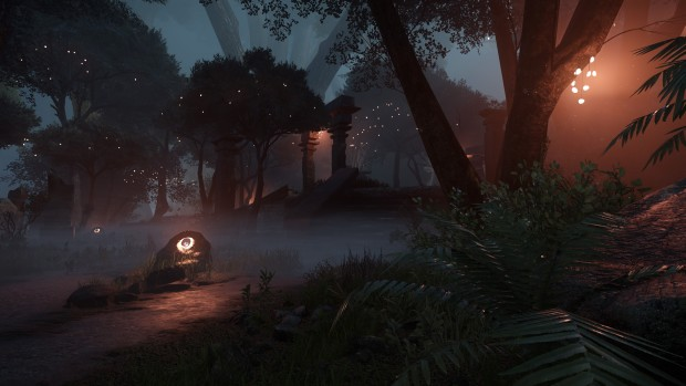 Aporia screenshot of the forest at night time