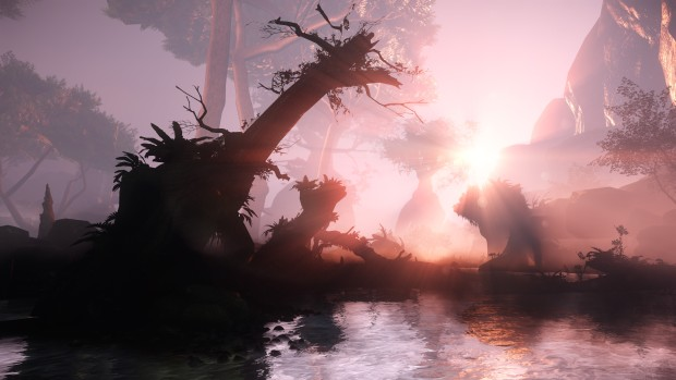 Aporia: Beyond the Valley screenshot of a sunset