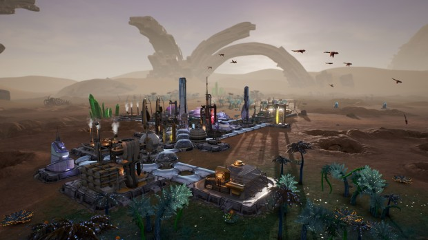 Aven Colony screenshot of the desert biome