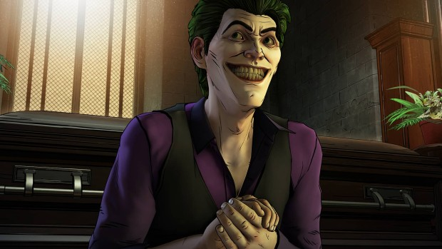 Batman Season 2 screenshot of the Joker being very creepy