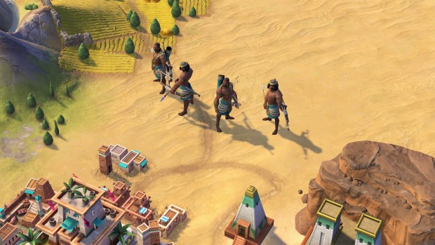 Civilization VI screenshot of archers from the Nubia faction