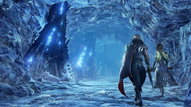 Code Vein screenshot of some icy caverns