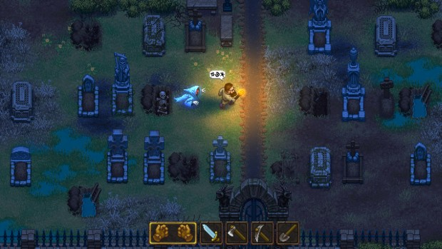 Graveyard Keeper screenshot of an angry ghost