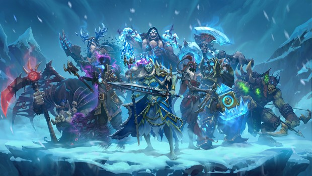 Knights of the Frozen Throne expansion artwork for Hearthstone