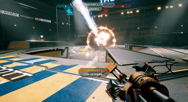 JackHammer screenshot of a rocket launcher in action