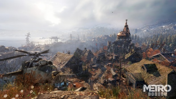 Metro Exodus screenshot of the outside world and its scenery