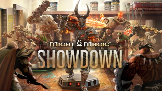 Might & Magic Showdown artwork with logo
