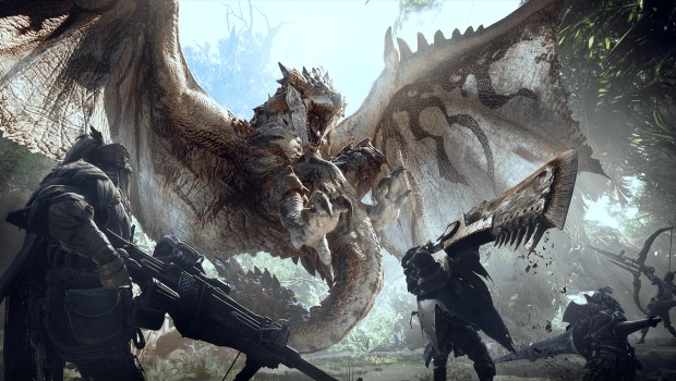 Monster Hunter: World screenshot of a dragon attack
