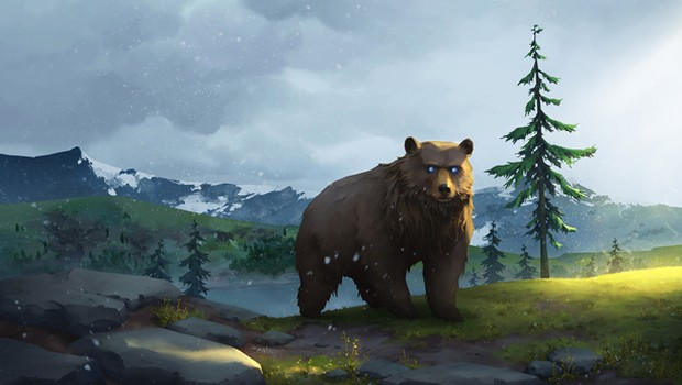 Northgard artwork for Clan Bear, without logo