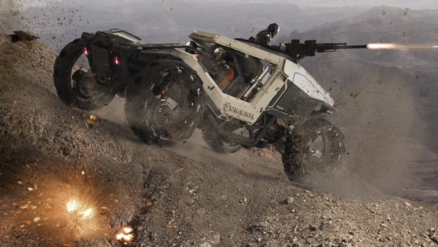 Armored ground vehicle from Star Citizen