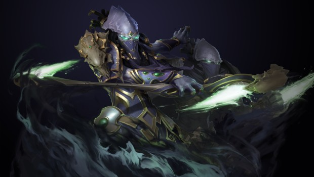 Starcraft 2 screenshot of a Dark Templar