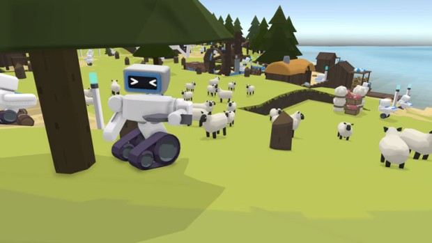 The Colonists robot lumberjack screenshot