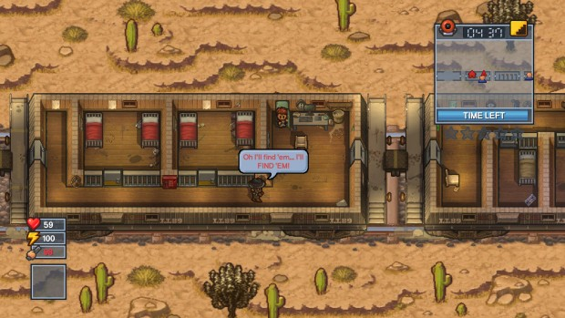 The Escapists 2 screenshot of the train prison