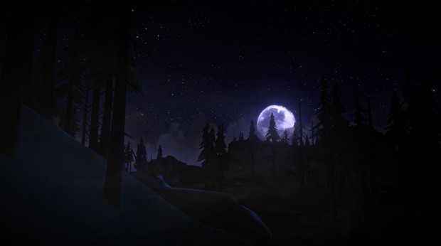 The Long Dark screenshot of a beautiful full moon