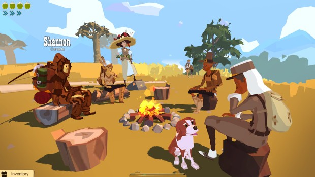 The Trail: Frontier Challenge screenshot of a campfire gathering
