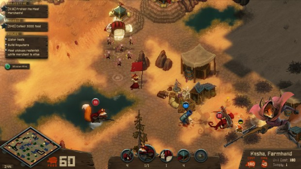 Tooth and Tail screenshot of a base attack