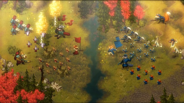Tooth and Tail screenshot of a large battle