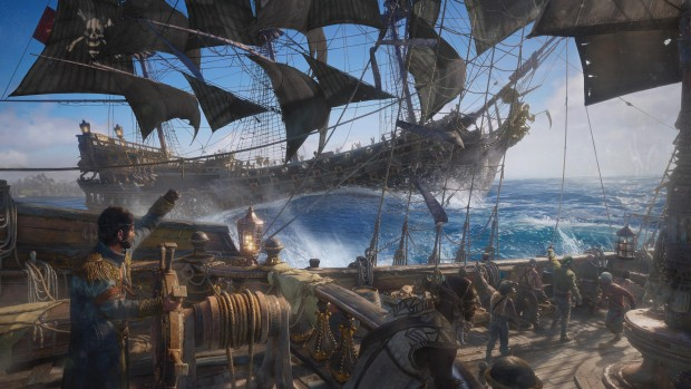 Skull & Bones screenshot of a broadside cannon barrage