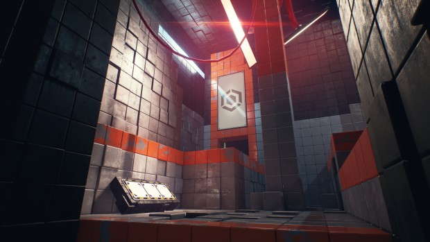 QUBE 2 screenshot of a derelict puzzle room