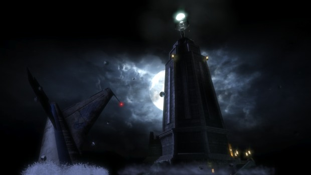 BioShock Remastered screenshot of the lighthouse in the dark