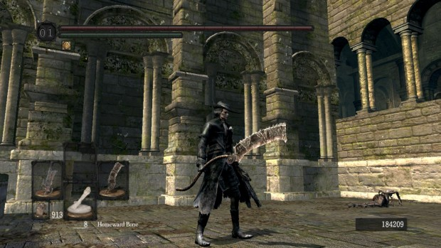 BloodSouls mod screenshot of the Saw Cleaver in Dark Souls