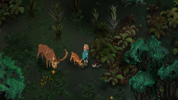 Children of Morta screenshot of a peaceful forest full of animals