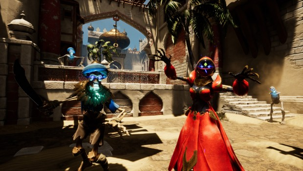City of Brass screenshot of skeleton enemies