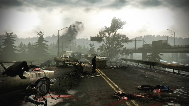 Deadlight: Director's Cut screenshot of the outdoors area on a highway